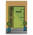 Vintage Door entrance facade vector image vector image