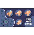 wash you hands - corona virus vector image vector image