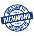 welcome to richmond blue stamp vector image vector image