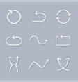 white paper arrows vector image