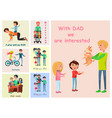 with dad we are interested posters set of vector image vector image