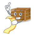 with menu crate mascot cartoon style vector image