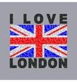 i love London City typography graphics vector image