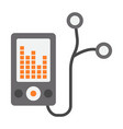 mp player device flat icon fitness and audio vector image