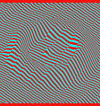 3d wavy background pattern with optical vector image