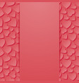 abstract background with hearts vector image vector image