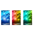 abstract glow of lights vector image vector image