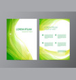 abstract modern wavy green flowing flyer vector image vector image