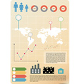 An infographics vector image vector image