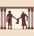 ancient greek justice vector image