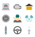 Auto Service Icons Flat vol 2 vector image vector image