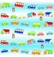 background with cartoon cars vector image vector image