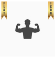 Bodybuilder Fitness Model icon vector image vector image