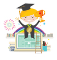 Boy Wearing Graduation Suit Education Concept vector image vector image