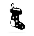 christmas socks icon concept for vector image vector image