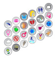 circle buttons vector image