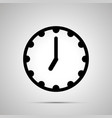 clock face showing 7-00 simple black icon vector image
