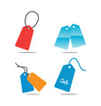 collection of price tag template vector image