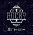 College emblem rugby team vector image vector image