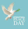 color poster pigeon flying with olive branch in vector image vector image