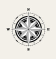 compass rose windrose navigational scale vector image vector image