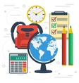 Concept school education on white vector image