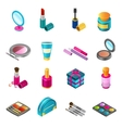 Cosmetics isometric set vector image