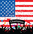 Crowd cheer america vector | Price: 1 Credit (USD $1)