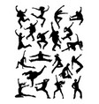 dancer silhouette vector image vector image
