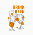 drink beer abstract sign symbol or banner vector image