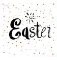 Easter Calligraphy Greeting Card vector image