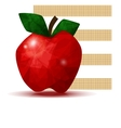faceted apple vector image