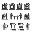 Family Home and Auto Insurance Icon Designs vector image