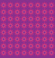 flower purple pattern ornament vector image