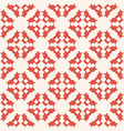 geometric floral seamless pattern abstract red vector image