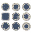 grunge round paper stickers 6 vector image vector image