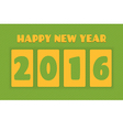 Happy new year 2016 Text design greeting card vector image vector image