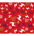 Happy New Year seamless pattern For wrapping vector image vector image