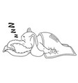 he sleeps with a deep sleep covered with a blanket vector image vector image