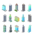 Isometric City Skyscraper Buildings Architecture vector image vector image