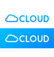 label cloud deposit system in blue and white vector image