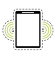 mobile phone wifi internet signal dot line vector image