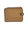 money wallet hand drawn vector image vector image