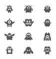 Monsters Set Black vector image vector image