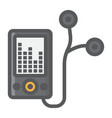 mp player device filled outline icon fitness vector image vector image