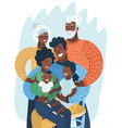 multi generation black family african american vector image