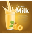 Peach sweet milkshake dessert cocktail vector image vector image