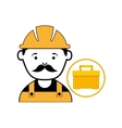 plastic tool box worker construction vector image