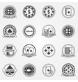 Poker Labels and Icons set vector image