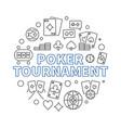 poker tournament concept outline circular vector image